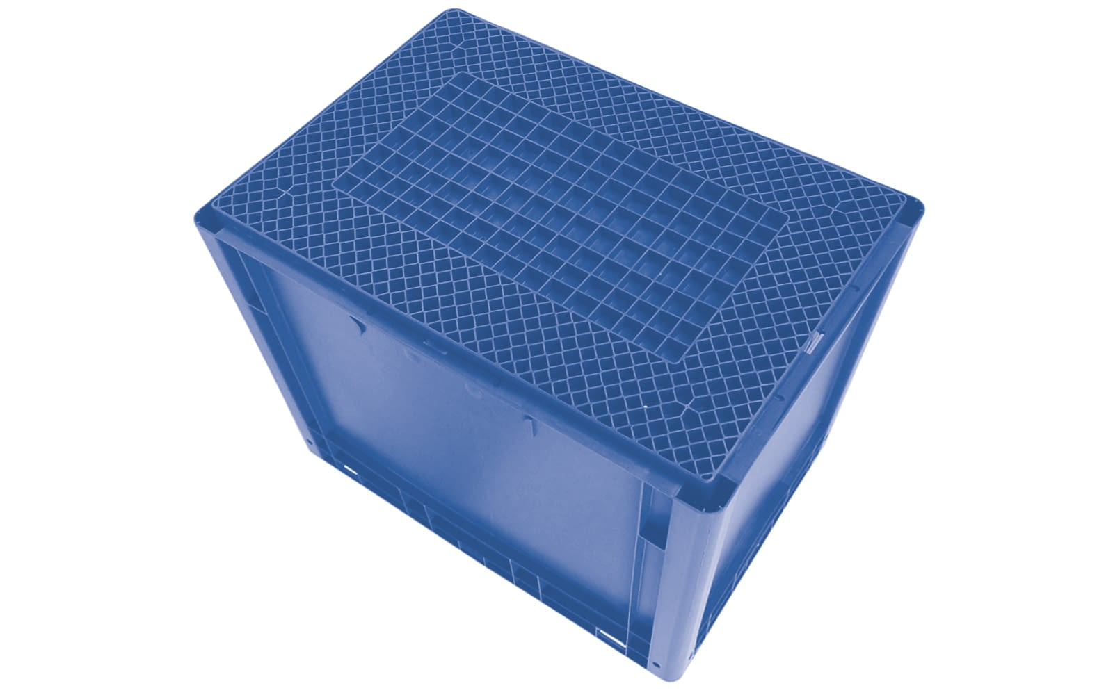 Eurostapelbakken XL, met gesloten wanden, blauw, IMG_21231