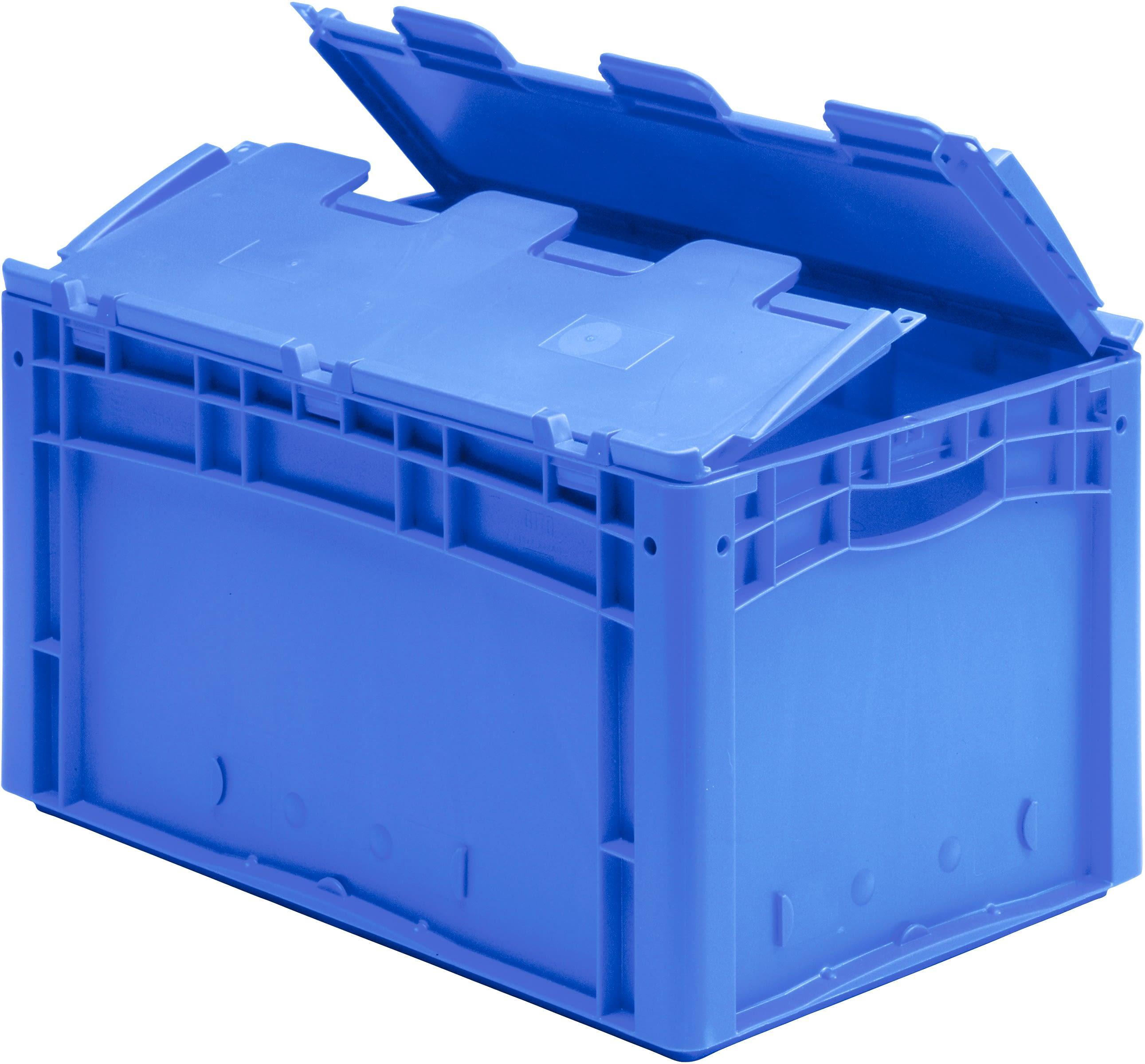 Eurostapelbakken XL, met gesloten wanden, blauw, 18501