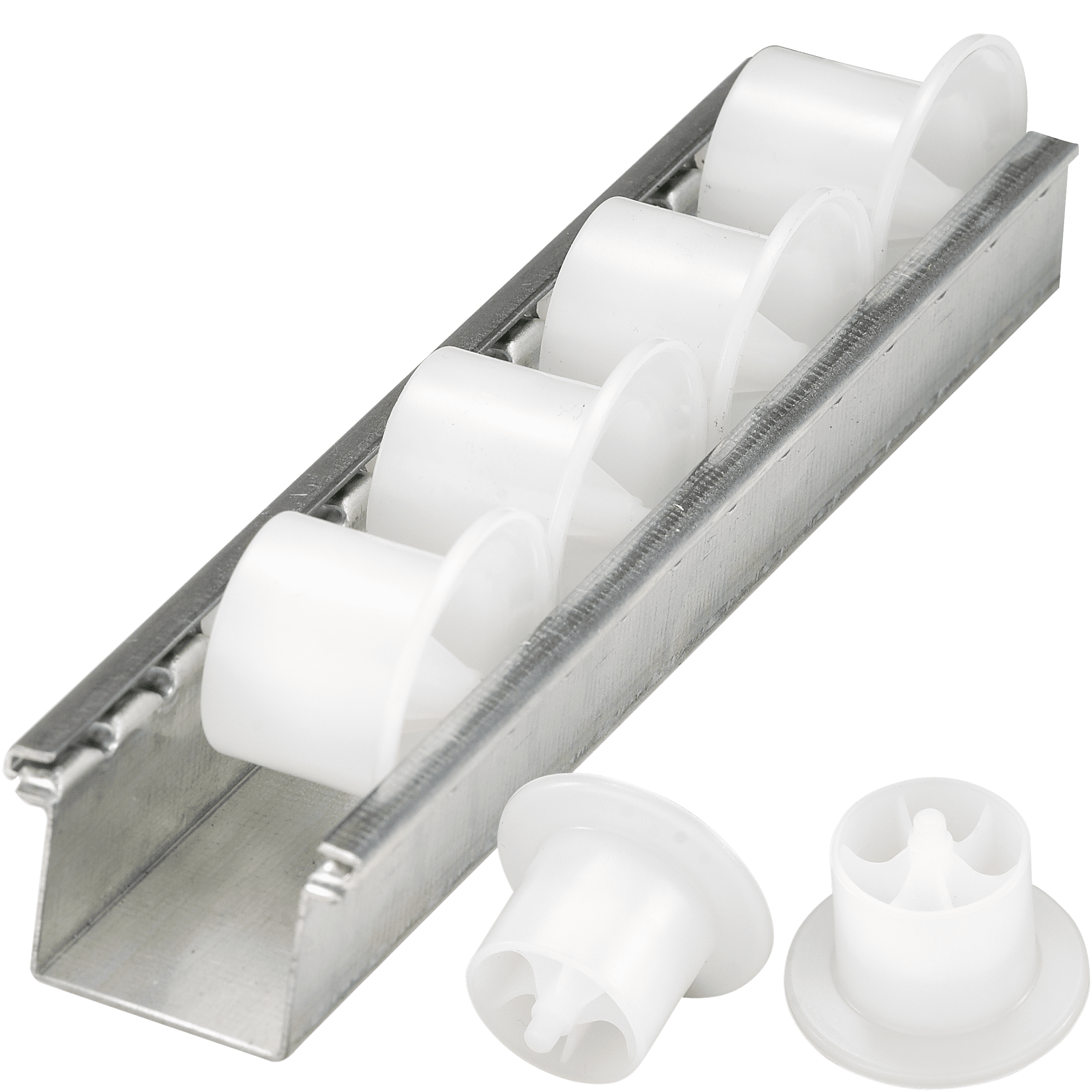 roller tracks with flanged plastic rollers bito. Black Bedroom Furniture Sets. Home Design Ideas