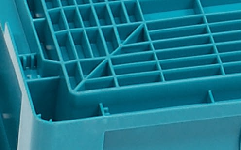 Small parts containers KLT with ribbed base, turquoise, IMG_18647