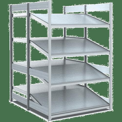 bereitstellregale doppelt tief hinten gerade vorne. Black Bedroom Furniture Sets. Home Design Ideas