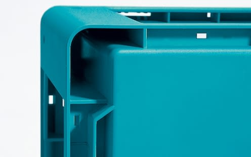 Small parts containers KLT with standard base, turquoise, IMG_18648