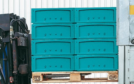 Small parts containers KLT, turquoise, IMG_18650
