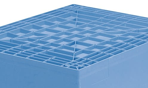 Multi-purpose containers MB with ribbed base, dove blue, IMG_18605