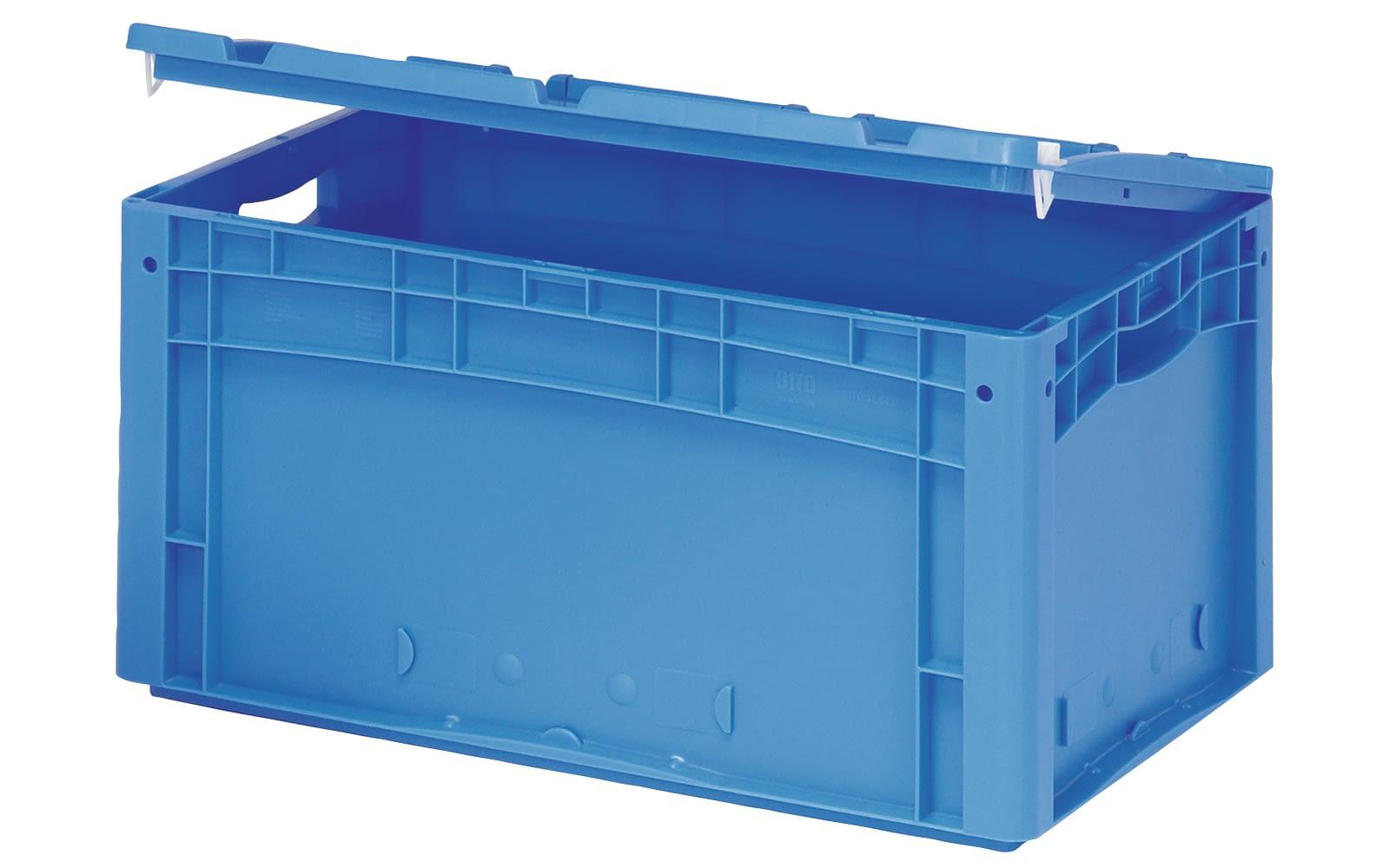 Couvercles sur charnières, fermeture à levier, bleu, IMG_29725