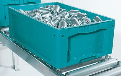 Small parts containers KLT, turquoise, IMG_18643