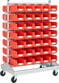 Regálové vozíky   , oboustranné použití, s boxy, pozinkovaná, 8-19521