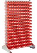 Kompletní regálové stojany, oboustranné použití, s boxy, pozinkovaná, 8-19507