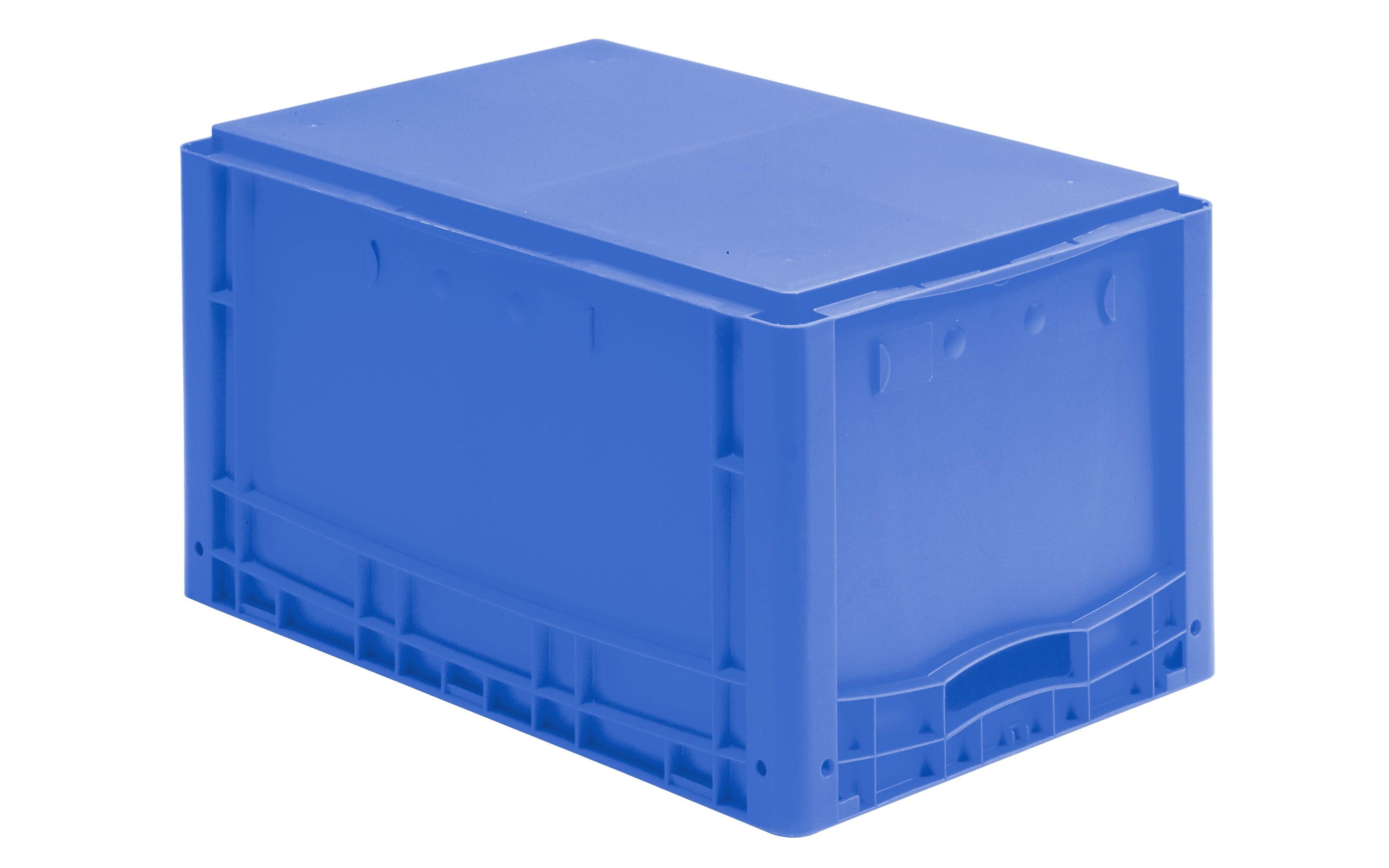 Pojemniki Euro do sztaplowania XL, z pełnymi ściankami, niebieski, IMG_18554