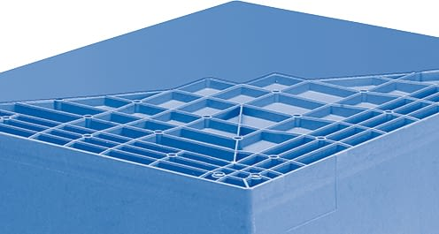 Multi-purpose containers MB with double base, dove blue, IMG_18600
