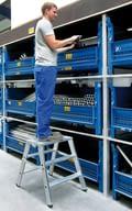 Małe podesty robocze z aluminium, aluminium, shop_img_47194