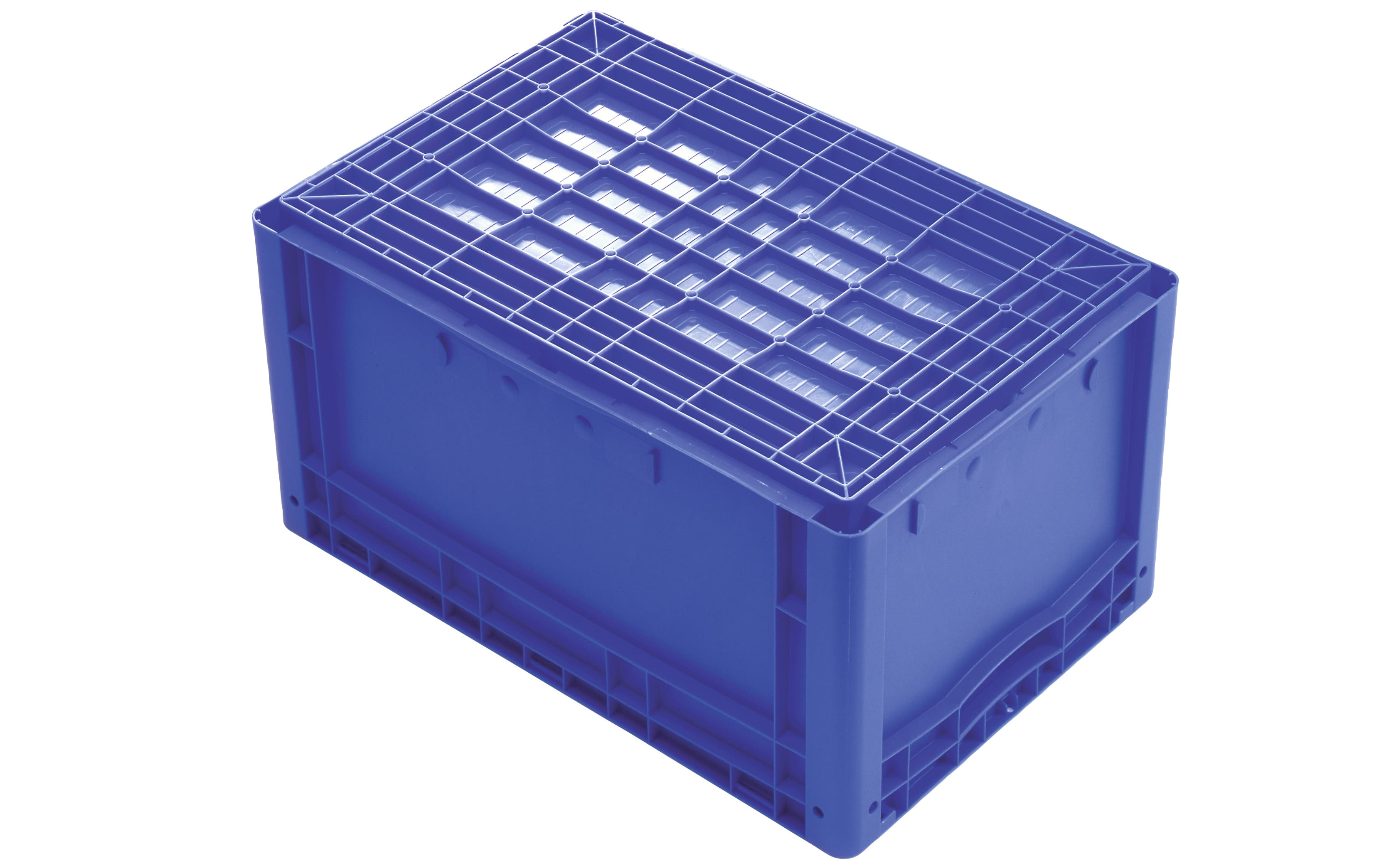 European size stacking containers XL, solid sides, blue, IMG_18553