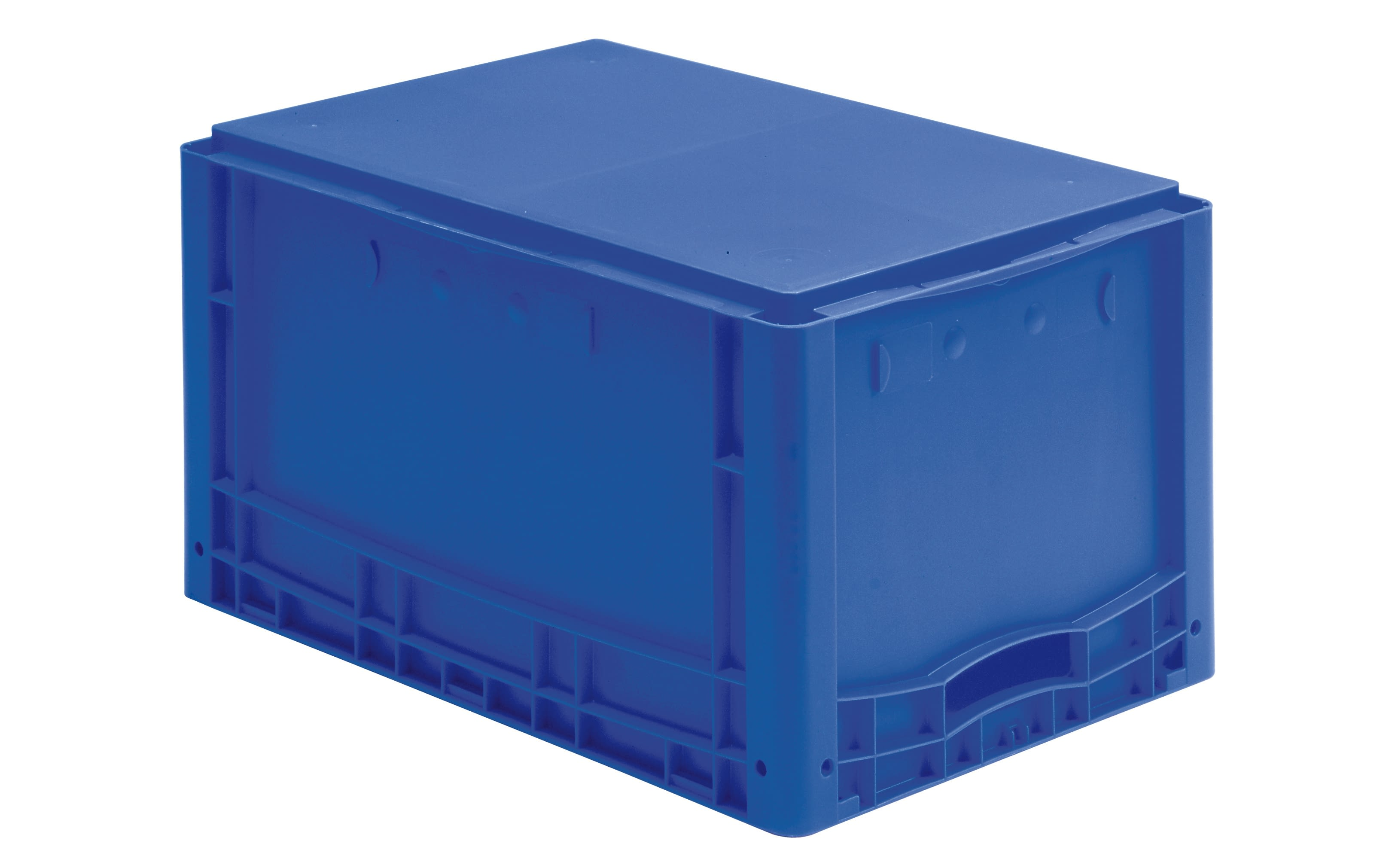 European size stacking containers XL, solid sides, blue, IMG_18554