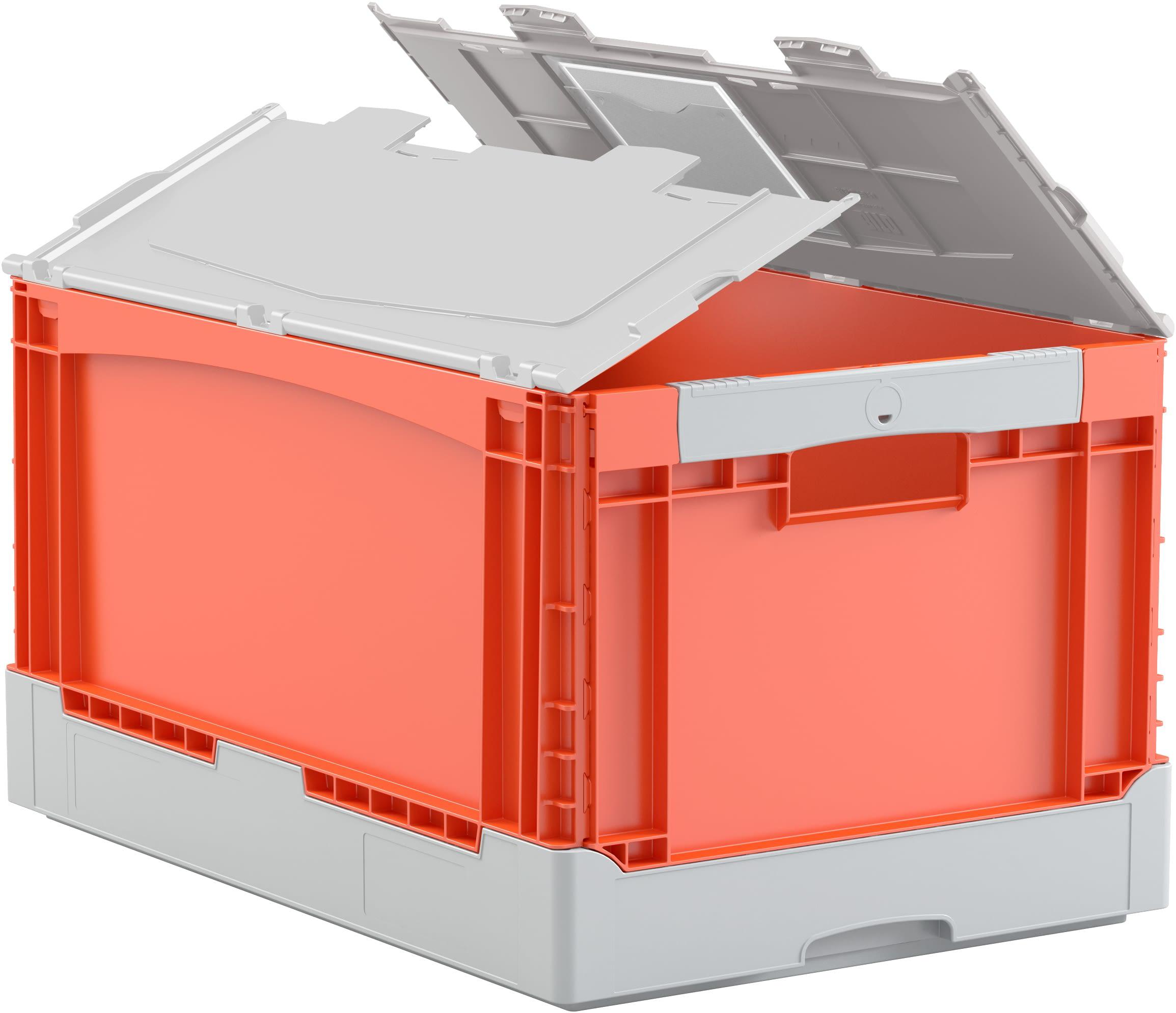 Klappboxen EQ, Durchfassgriffe, orange/grau, 31457, 31465